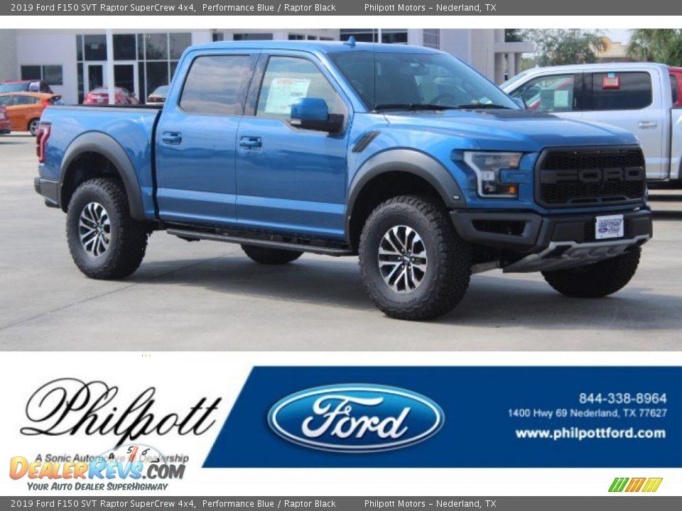 2019 Ford F150 SVT Raptor SuperCrew 4x4 Performance Blue / Raptor Black Photo #1