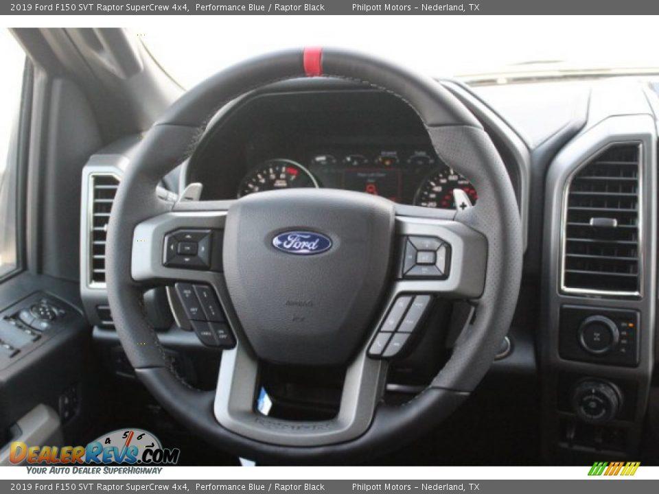 2019 Ford F150 SVT Raptor SuperCrew 4x4 Steering Wheel Photo #23