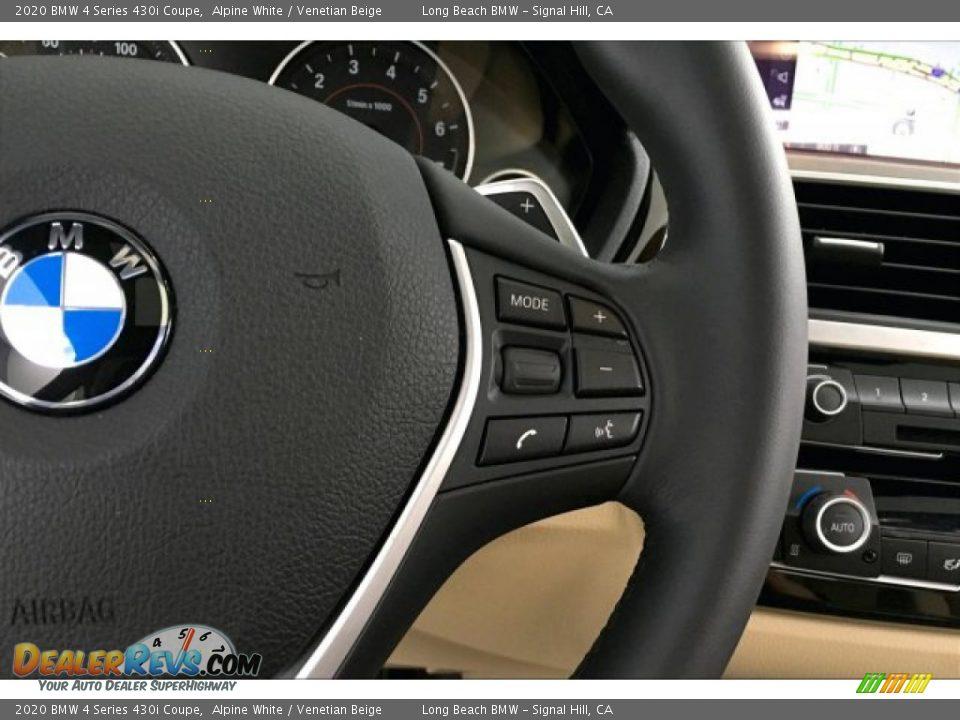 2020 BMW 4 Series 430i Coupe Alpine White / Venetian Beige Photo #15