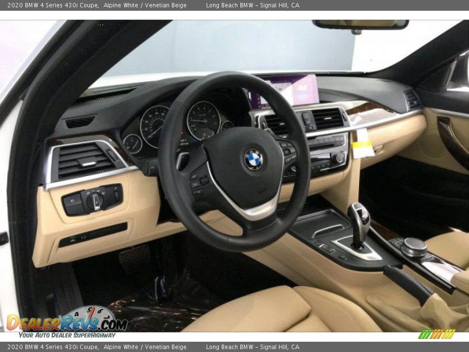 2020 BMW 4 Series 430i Coupe Alpine White / Venetian Beige Photo #17
