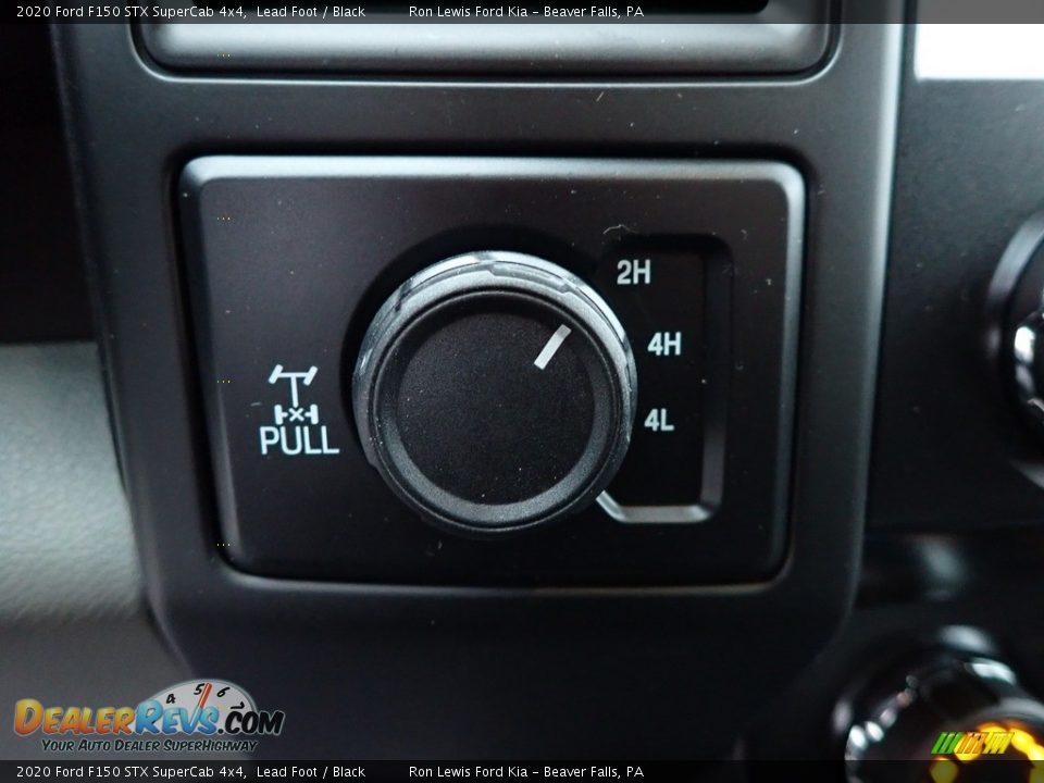 2020 Ford F150 STX SuperCab 4x4 Lead Foot / Black Photo #17