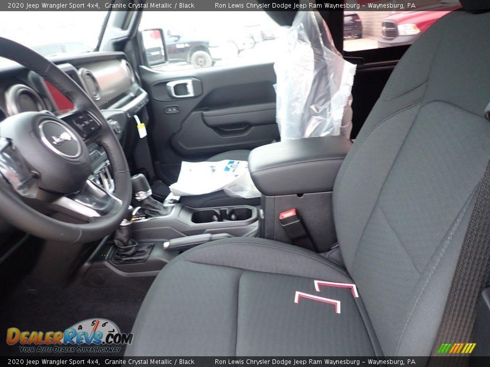 2020 Jeep Wrangler Sport 4x4 Granite Crystal Metallic / Black Photo #11