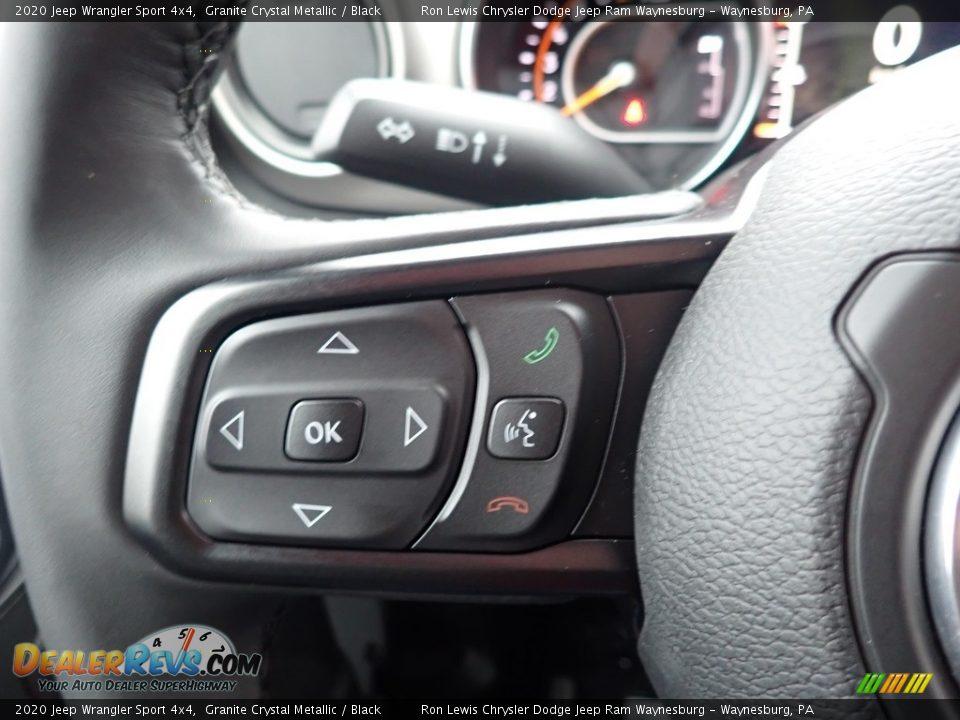 2020 Jeep Wrangler Sport 4x4 Granite Crystal Metallic / Black Photo #17