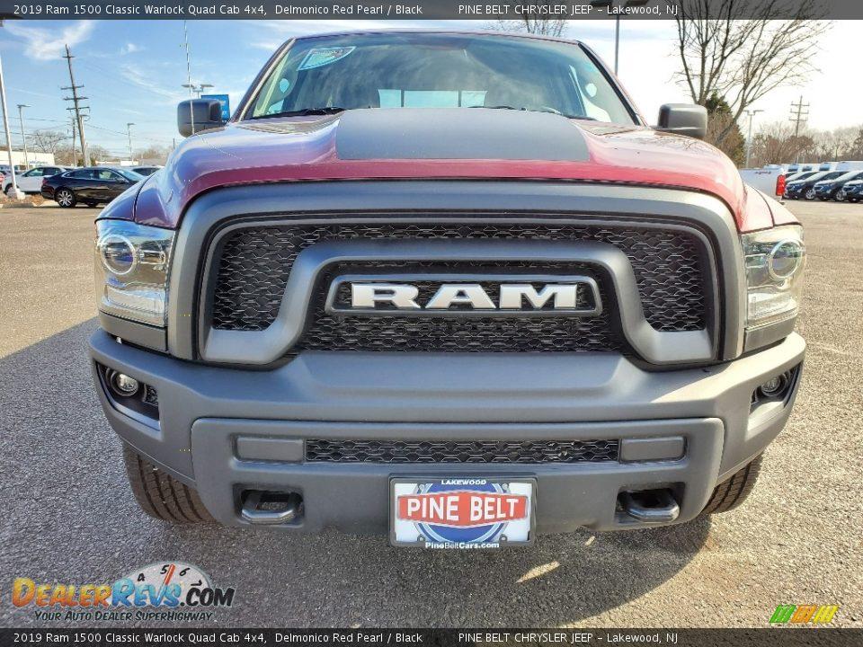 2019 Ram 1500 Classic Warlock Quad Cab 4x4 Delmonico Red Pearl / Black Photo #2