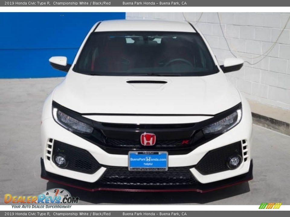 2019 Honda Civic Type R Championship White / Black/Red Photo #3