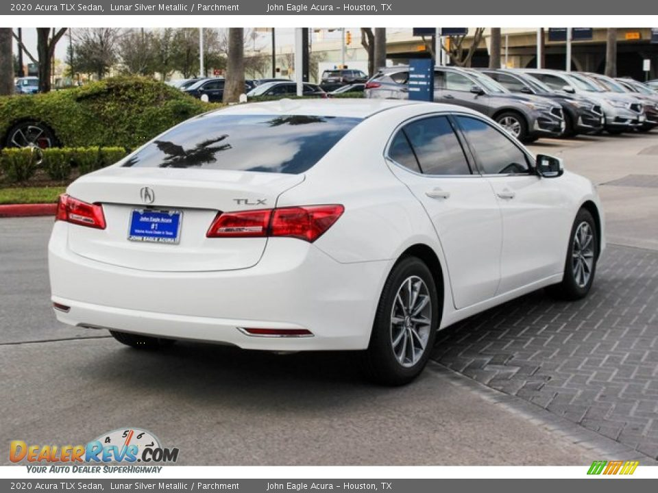 2020 Acura TLX Sedan Lunar Silver Metallic / Parchment Photo #8