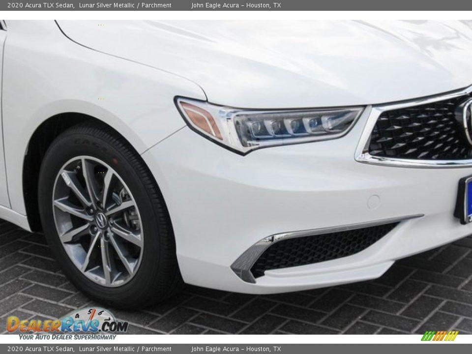 2020 Acura TLX Sedan Lunar Silver Metallic / Parchment Photo #11
