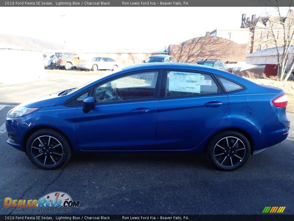 2019 Ford Fiesta SE Sedan Lightning Blue / Charcoal Black Photo #6