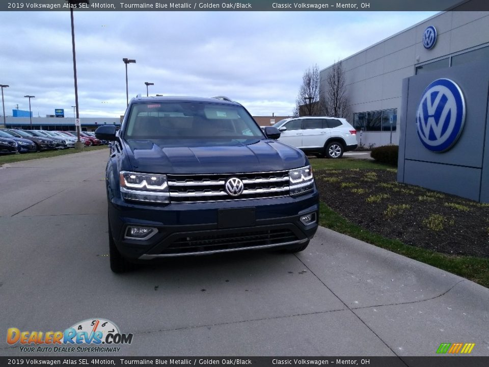 2019 Volkswagen Atlas SEL 4Motion Tourmaline Blue Metallic / Golden Oak/Black Photo #1