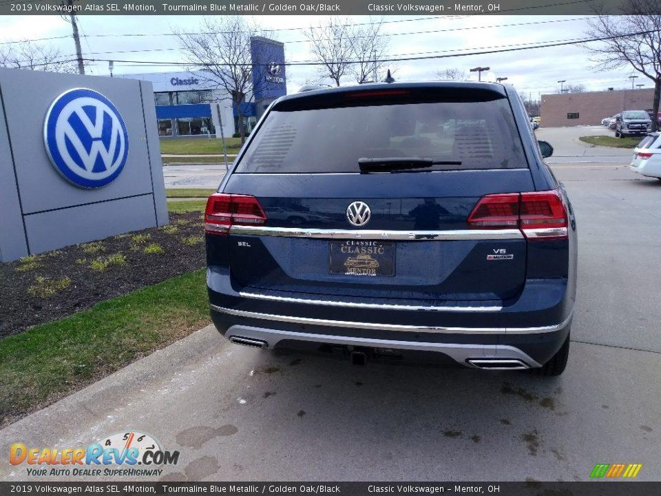 2019 Volkswagen Atlas SEL 4Motion Tourmaline Blue Metallic / Golden Oak/Black Photo #3