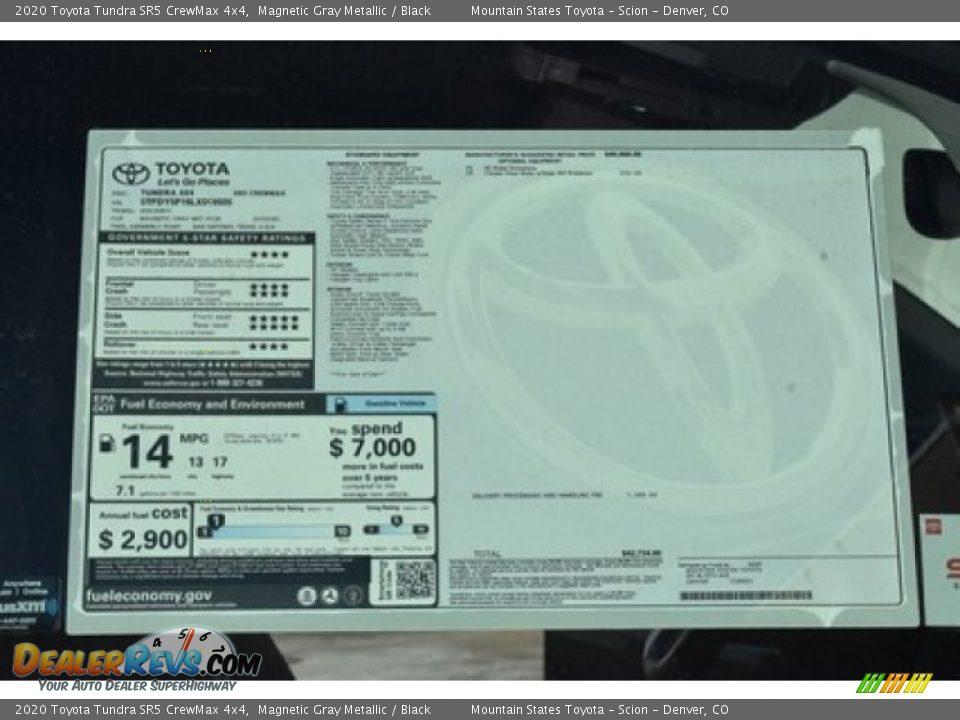 2020 Toyota Tundra SR5 CrewMax 4x4 Magnetic Gray Metallic / Black Photo #10