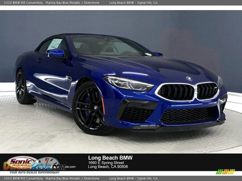 2020 BMW M8 Convertible Marina Bay Blue Metallic / Silverstone Photo #1