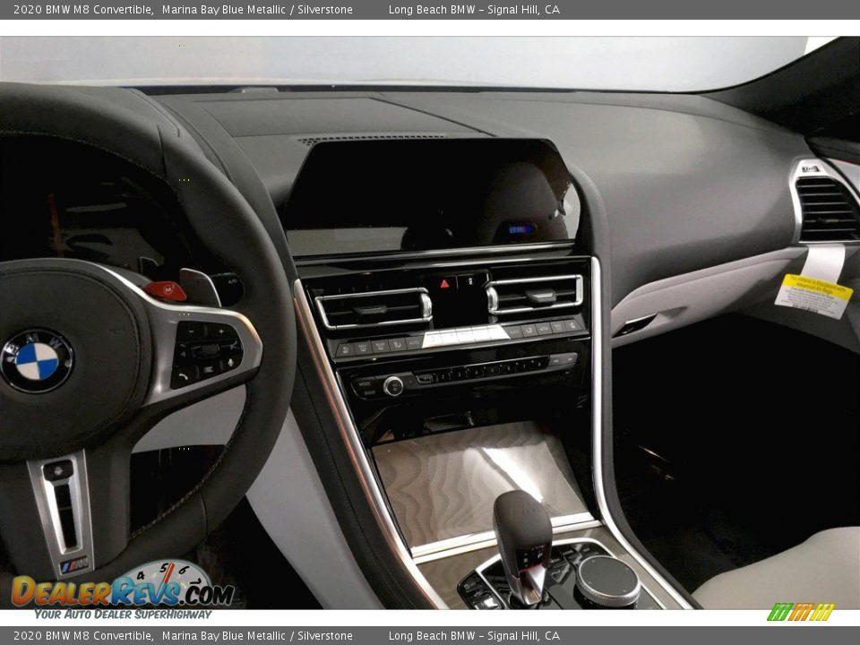 2020 BMW M8 Convertible Marina Bay Blue Metallic / Silverstone Photo #5