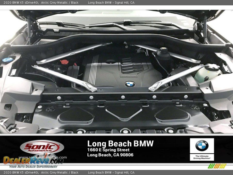 2020 BMW X5 sDrive40i Arctic Grey Metallic / Black Photo #8