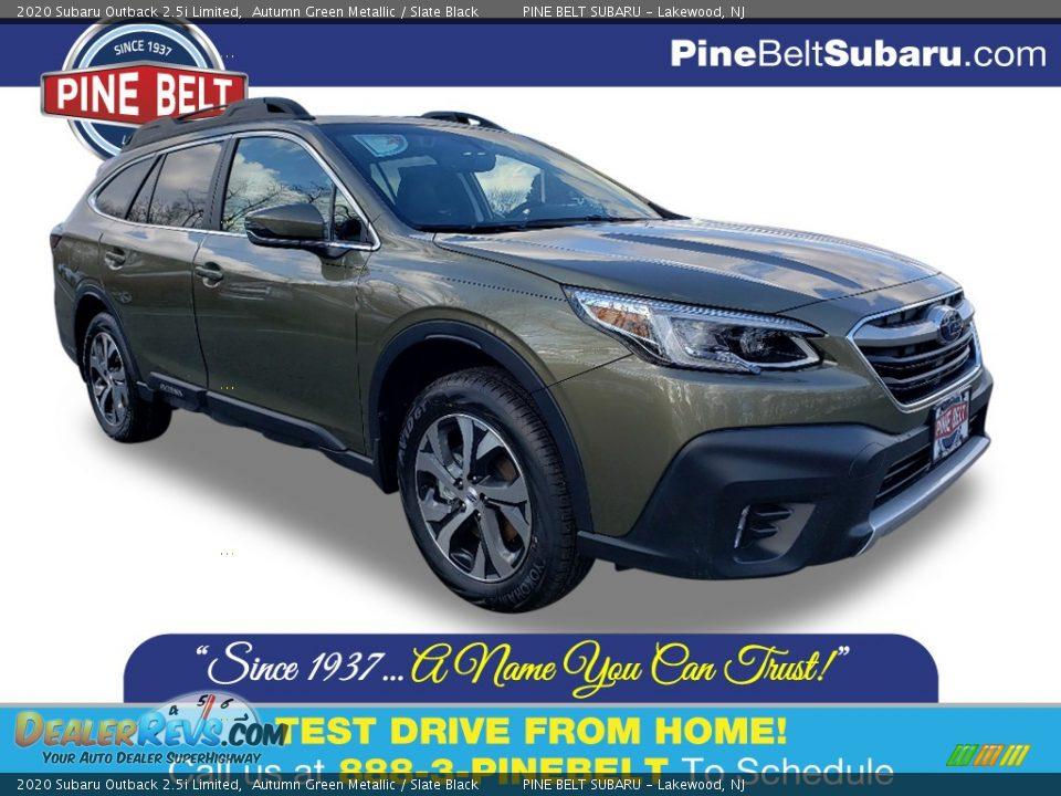 2020 Subaru Outback 2.5i Limited Autumn Green Metallic / Slate Black Photo #1
