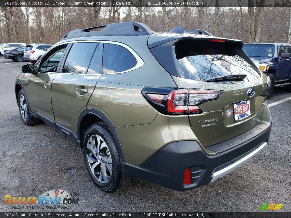2020 Subaru Outback 2.5i Limited Autumn Green Metallic / Slate Black Photo #4