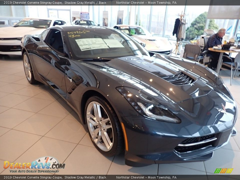 2019 Chevrolet Corvette Stingray Coupe Shadow Gray Metallic / Black Photo #10