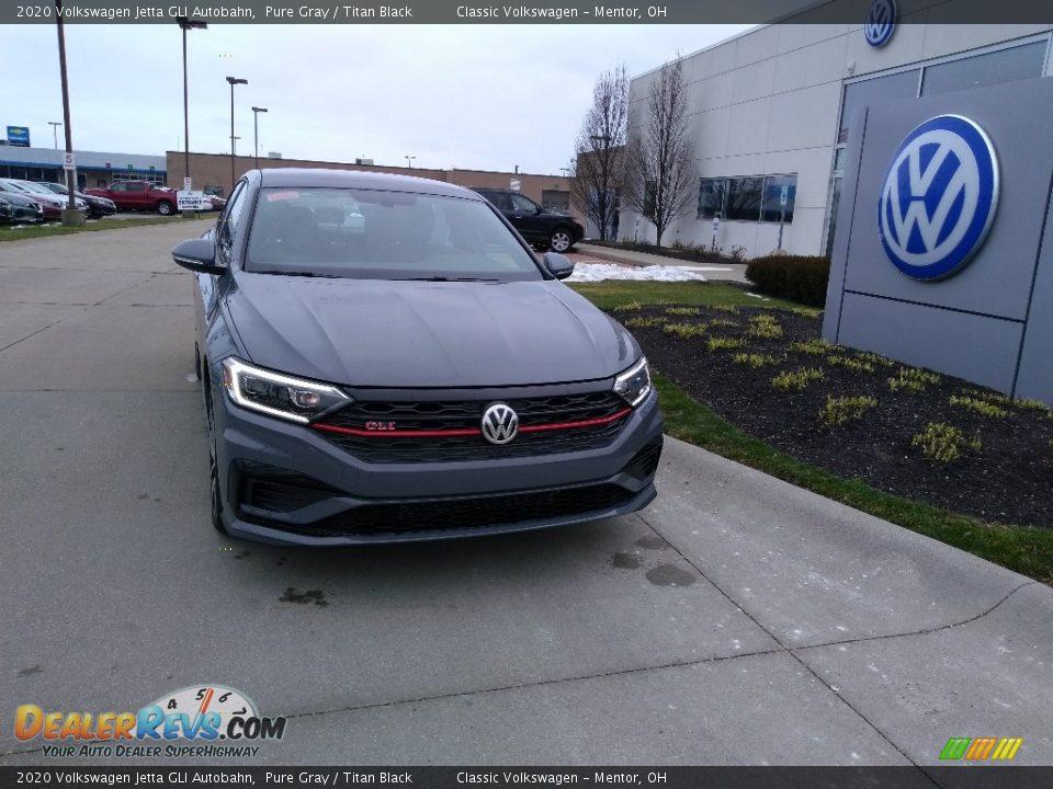 2020 Volkswagen Jetta GLI Autobahn Pure Gray / Titan Black Photo #1
