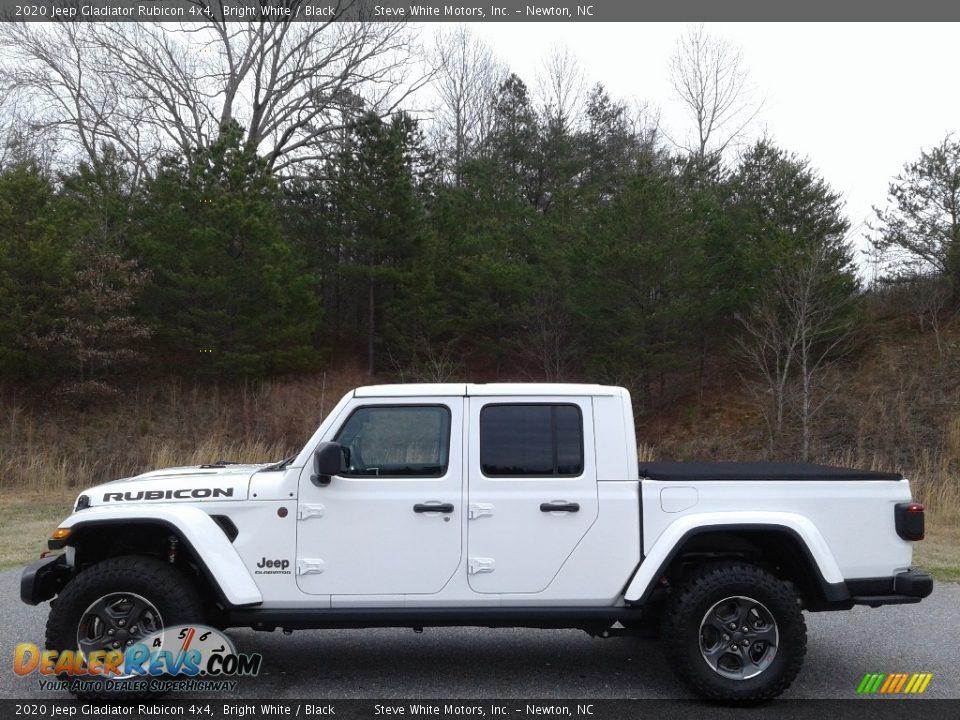 Bright White 2020 Jeep Gladiator Rubicon 4x4 Photo #1