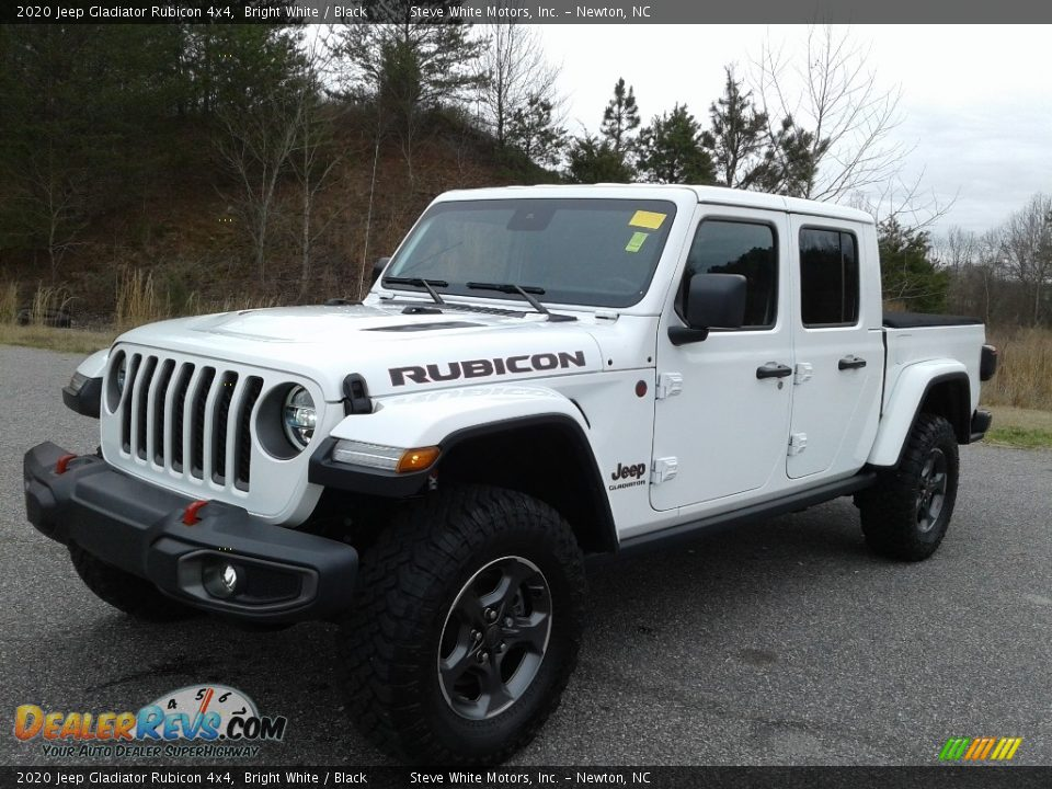 2020 Jeep Gladiator Rubicon 4x4 Bright White / Black Photo #2