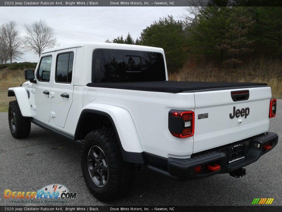 2020 Jeep Gladiator Rubicon 4x4 Bright White / Black Photo #6