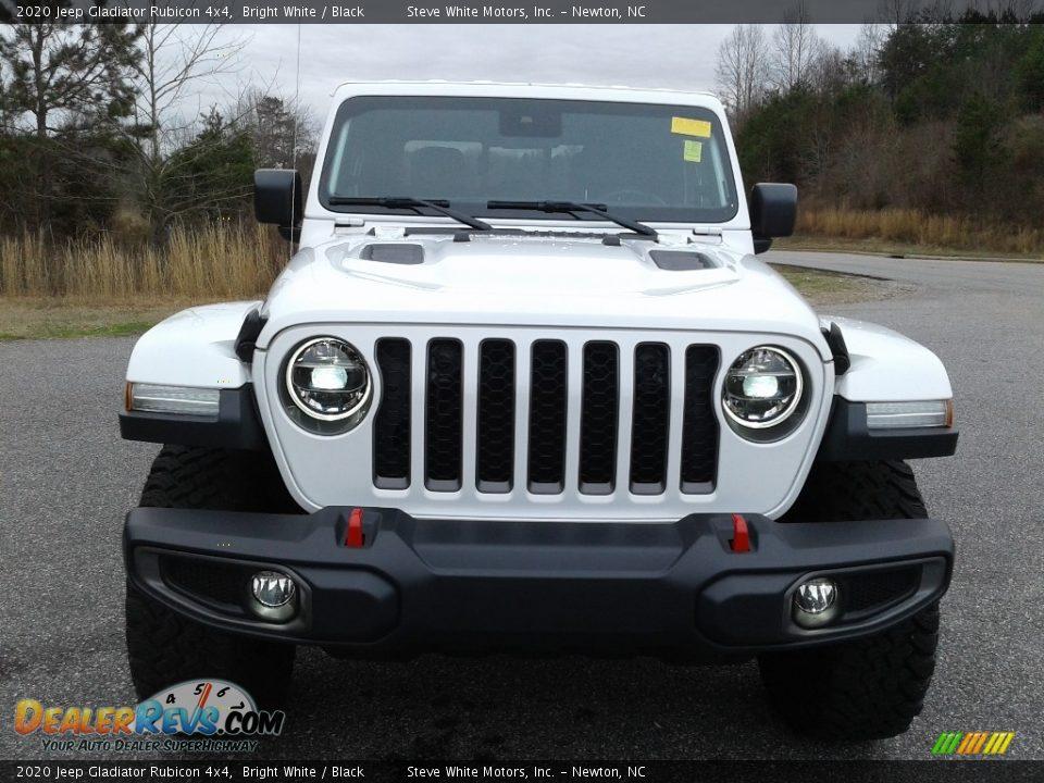 2020 Jeep Gladiator Rubicon 4x4 Bright White / Black Photo #7