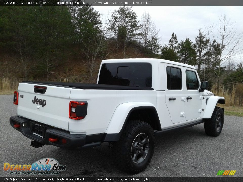 2020 Jeep Gladiator Rubicon 4x4 Bright White / Black Photo #10