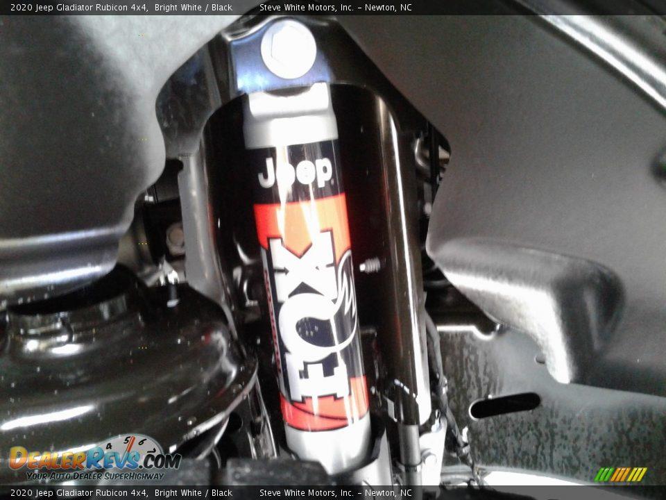 2020 Jeep Gladiator Rubicon 4x4 Bright White / Black Photo #11