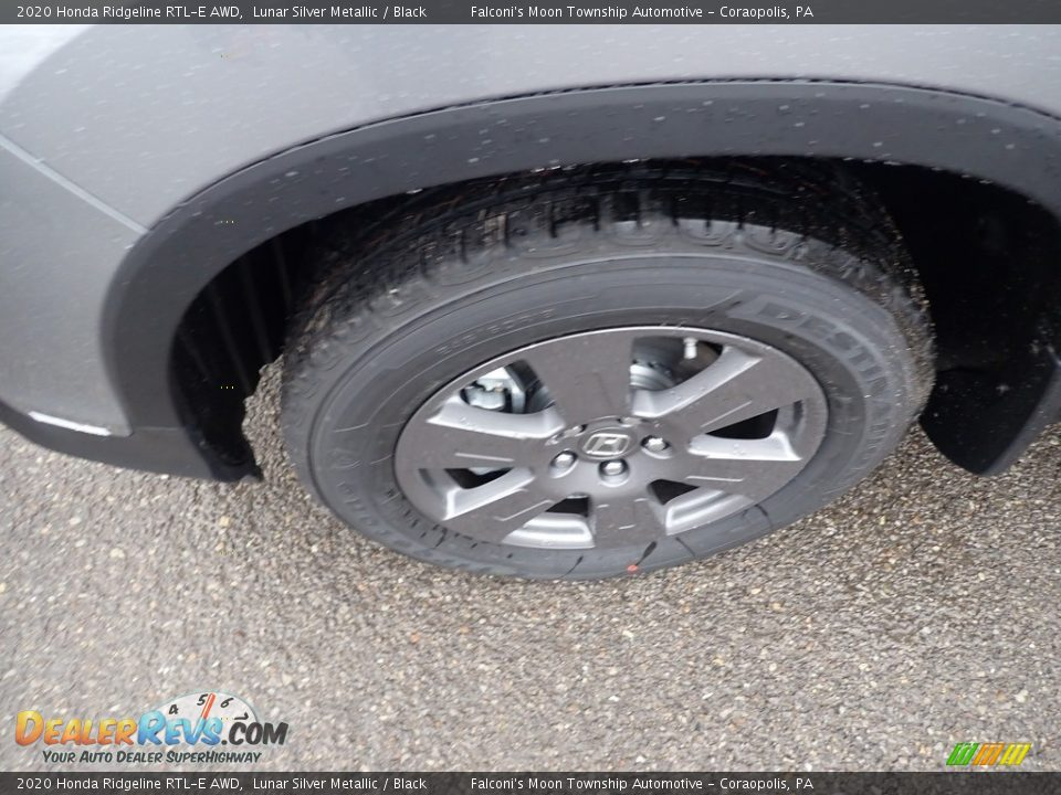 2020 Honda Ridgeline RTL-E AWD Lunar Silver Metallic / Black Photo #7