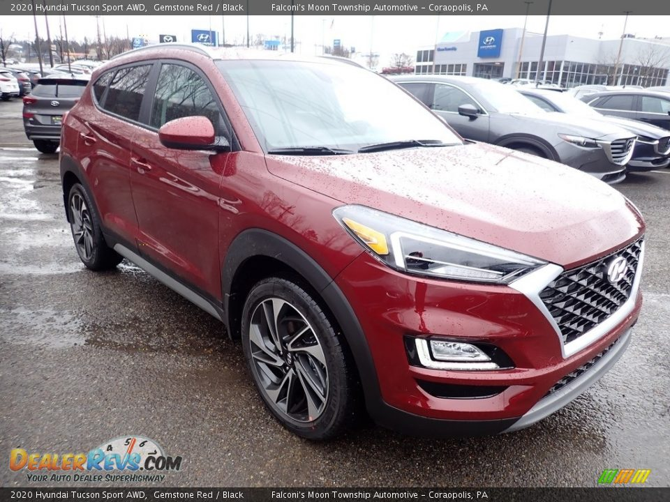 2020 Hyundai Tucson Sport AWD Gemstone Red / Black Photo #3