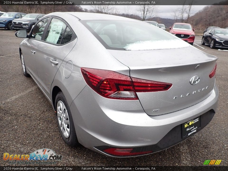 2020 Hyundai Elantra SE Symphony Silver / Gray Photo #6