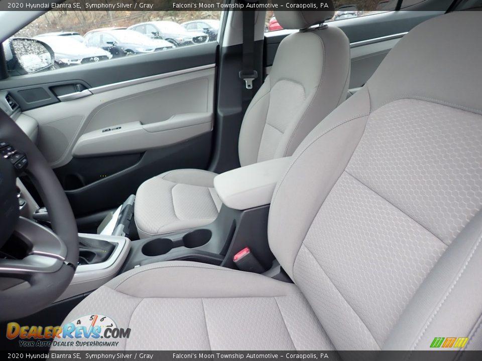 2020 Hyundai Elantra SE Symphony Silver / Gray Photo #10
