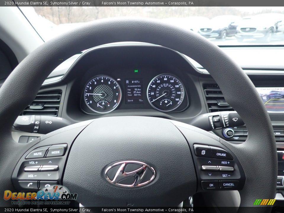 2020 Hyundai Elantra SE Symphony Silver / Gray Photo #15