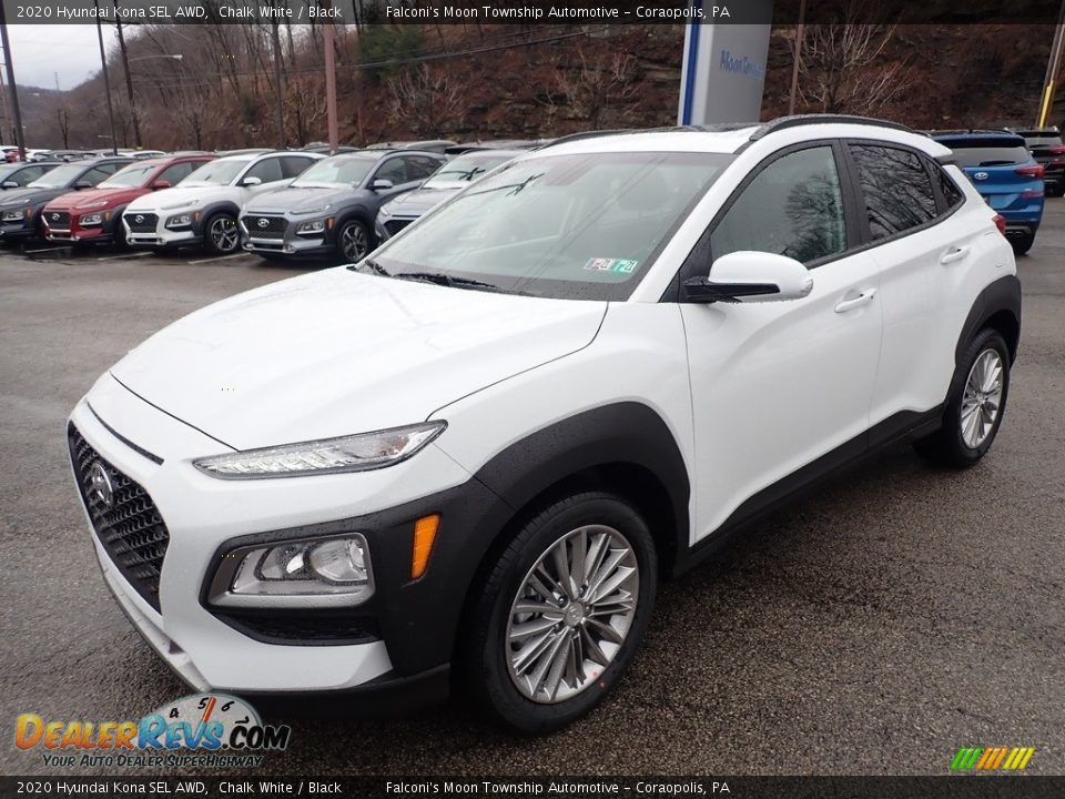 2020 Hyundai Kona SEL AWD Chalk White / Black Photo #5