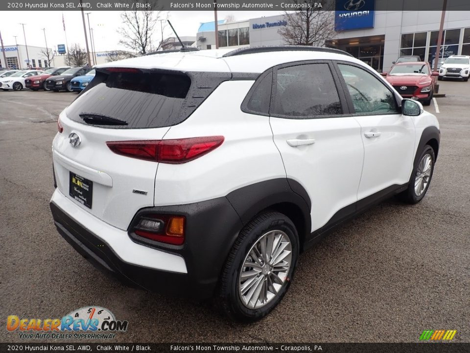 2020 Hyundai Kona SEL AWD Chalk White / Black Photo #2
