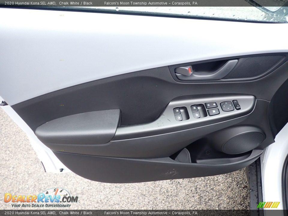 2020 Hyundai Kona SEL AWD Chalk White / Black Photo #10