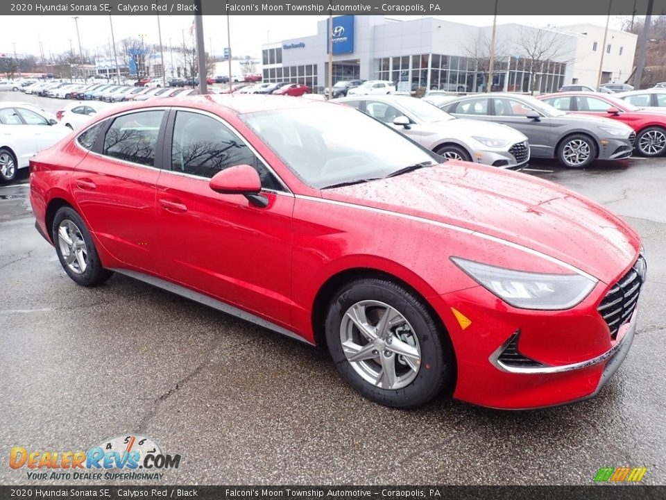 2020 Hyundai Sonata SE Calypso Red / Black Photo #3
