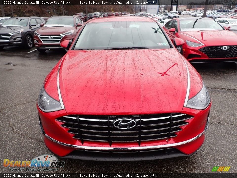 2020 Hyundai Sonata SE Calypso Red / Black Photo #4