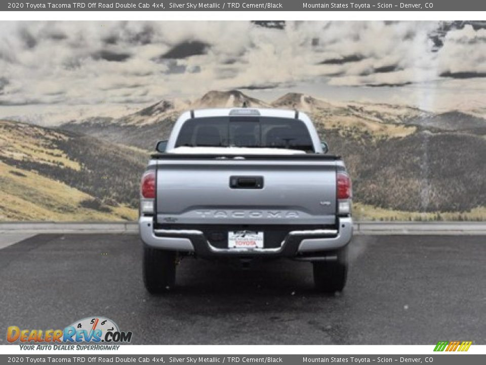 2020 Toyota Tacoma TRD Off Road Double Cab 4x4 Silver Sky Metallic / TRD Cement/Black Photo #4
