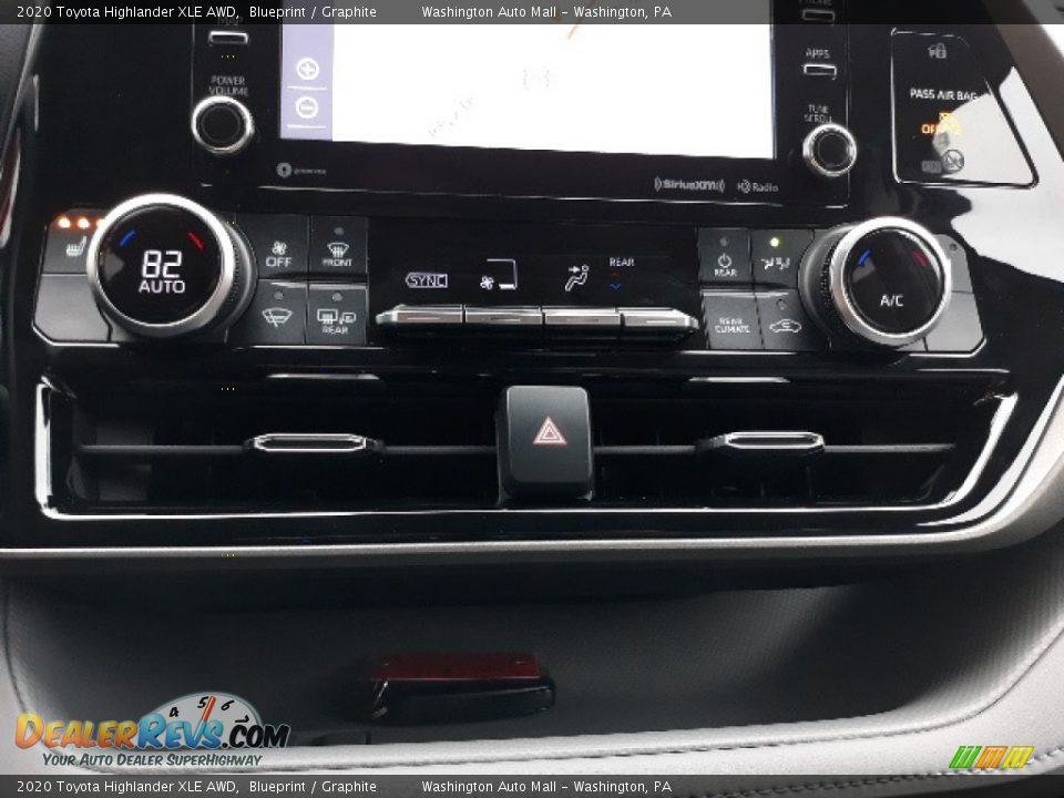 2020 Toyota Highlander XLE AWD Blueprint / Graphite Photo #13