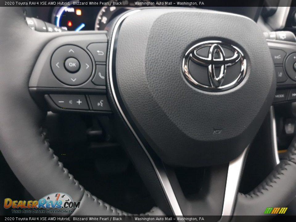 2020 Toyota RAV4 XSE AWD Hybrid Blizzard White Pearl / Black Photo #5