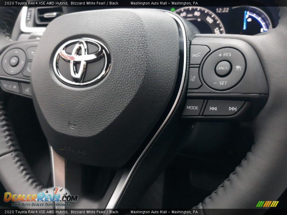 2020 Toyota RAV4 XSE AWD Hybrid Blizzard White Pearl / Black Photo #6