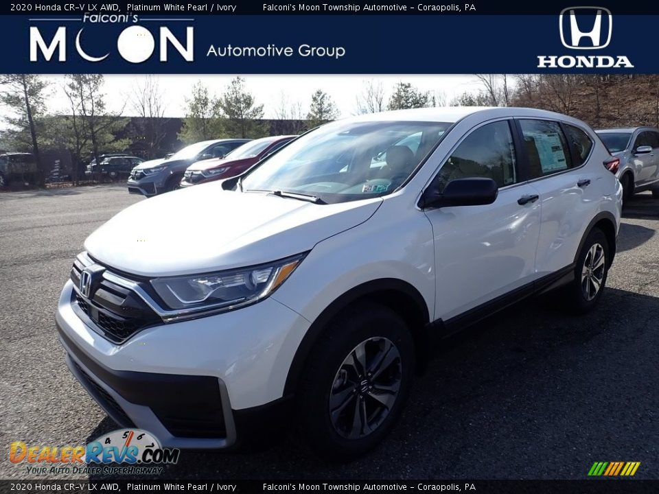 2020 Honda CR-V LX AWD Platinum White Pearl / Ivory Photo #1