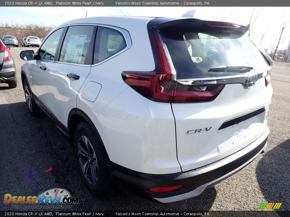 2020 Honda CR-V LX AWD Platinum White Pearl / Ivory Photo #2