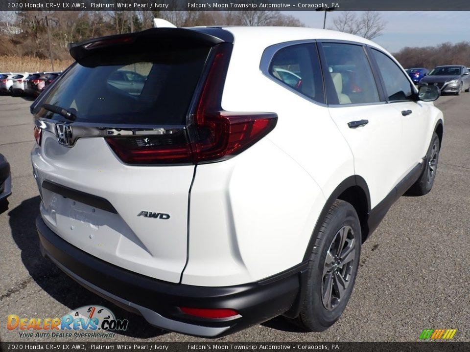 2020 Honda CR-V LX AWD Platinum White Pearl / Ivory Photo #4