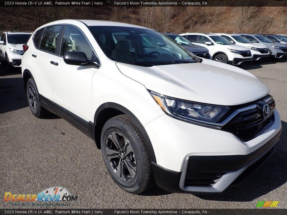 2020 Honda CR-V LX AWD Platinum White Pearl / Ivory Photo #5