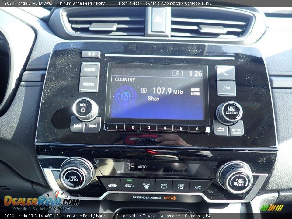 2020 Honda CR-V LX AWD Platinum White Pearl / Ivory Photo #12