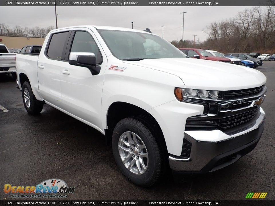 2020 Chevrolet Silverado 1500 LT Z71 Crew Cab 4x4 Summit White / Jet Black Photo #7