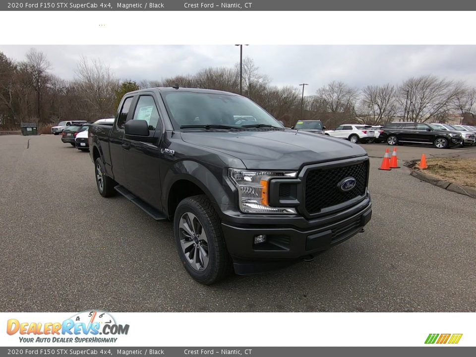 2020 Ford F150 STX SuperCab 4x4 Magnetic / Black Photo #1