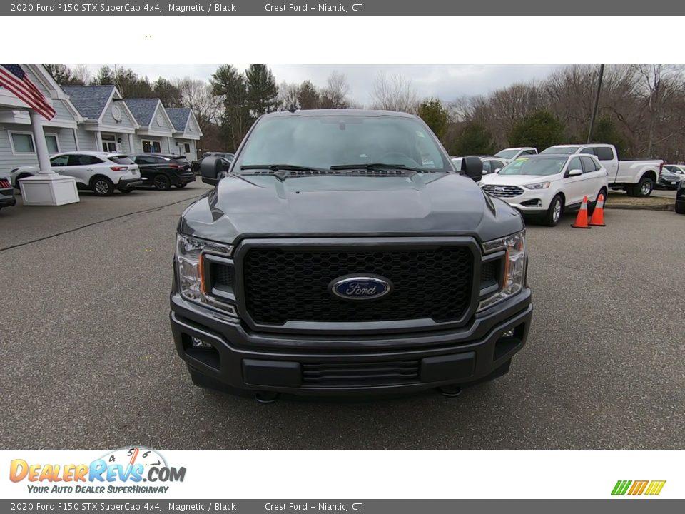 2020 Ford F150 STX SuperCab 4x4 Magnetic / Black Photo #2
